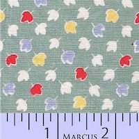 Aunt Grace Authentic 2442-314 Green/Multi Leaf