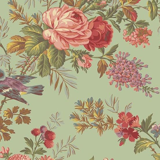 Bed of Roses   A-8985-G Bed of Roses Pistachio