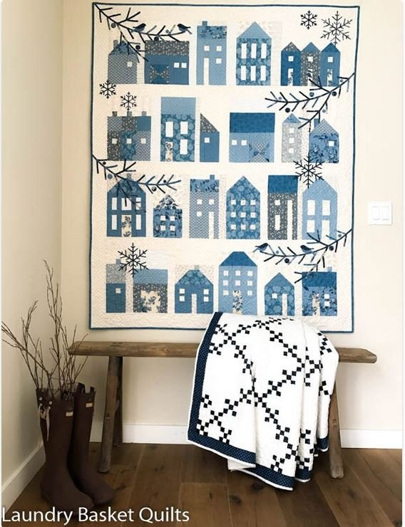 Blue Sky  Winter Village Quilt Pattern