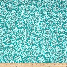 Bree Paisley Aqua Fabric 02133 24