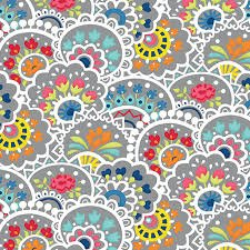 Bree Mulit Paisley Gray Fabric 02132 08