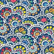 Bree Multi Paisley Navy Fabric 02132 11