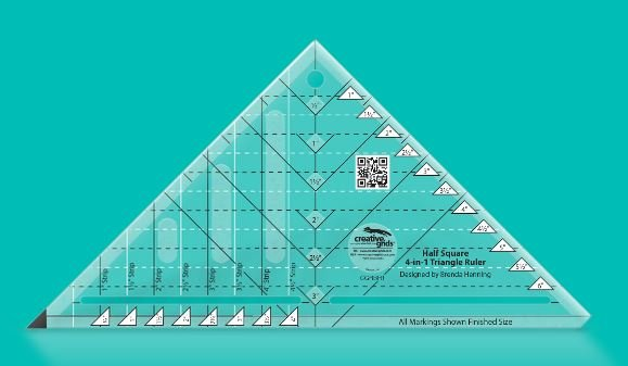 Creative Grids  Half-Square 4-in-1 Triangle Ruler