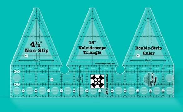 Creative Grids 45 Degree Kaleidoscope Double-Strip Ruler