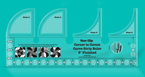 Creative Grids Corner to Corner Curve Strip Ruler