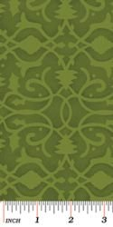 Christmas Pure and Simple 4386-44 Brocade Wintergreen