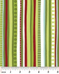 Christmas Pure & Simple 4383-42 Multi Stripe Bamboo
