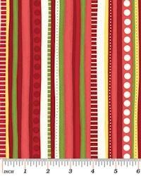 Christmas Pure & Simple 4383-10 Multi Stripe Red