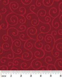 Christmas Pure & Simple 4281-15 Scrolls Claret
