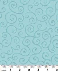 Christmas Pure & Simple 4381-26 Scrolls Seafoam