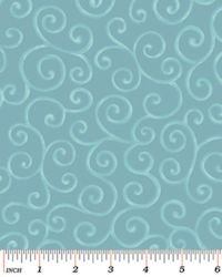 Christmas Pure & Simple 4381-84 Scrolls Teal