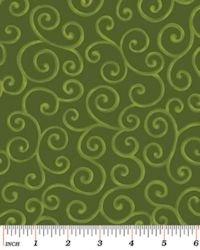 Christmas Pure & Simple 4381-44 Scrolls Wintergreen