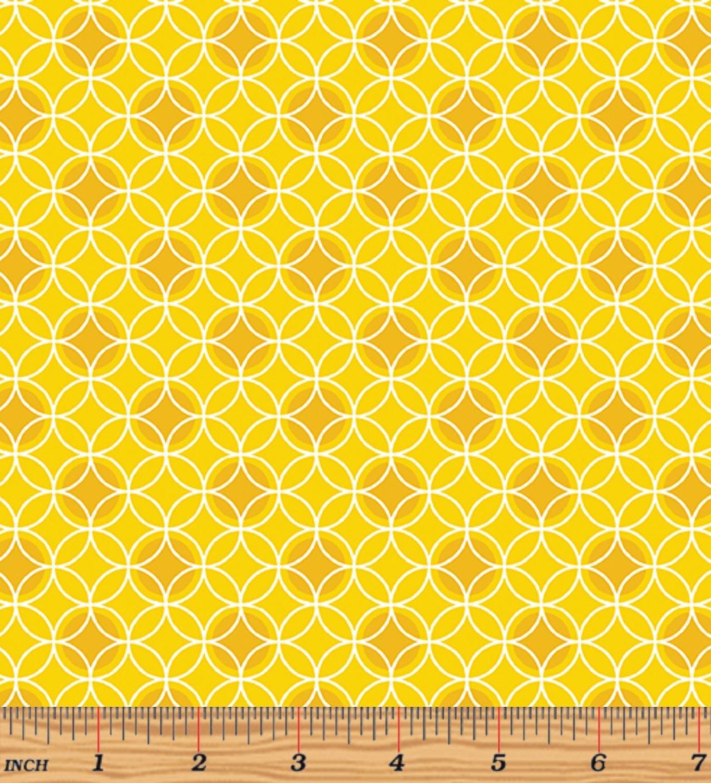 Bree 2134-03 Dot Circle Yellow