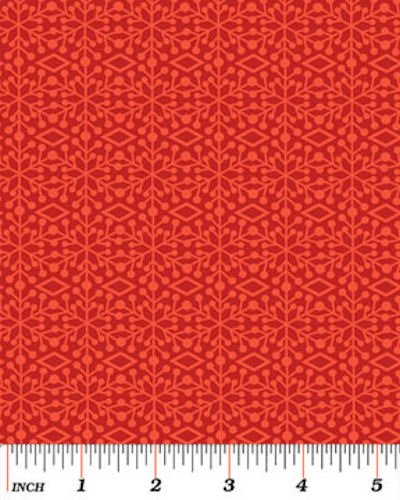 Ho Ho Ho, Let It Snow 3292-19 Frosted Windows Red