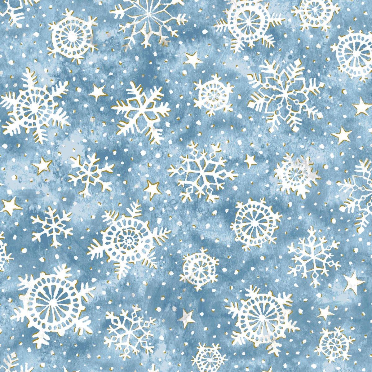 Noel Snowflakes Blue  5937 72