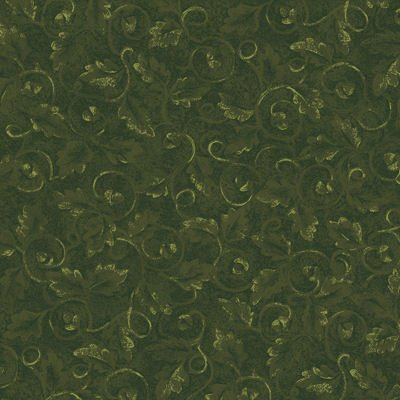 Tried and True 4277-48 Embossed Leaves Loden