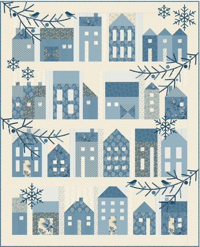 Blue Sky  Winter Village Quilt Pattern