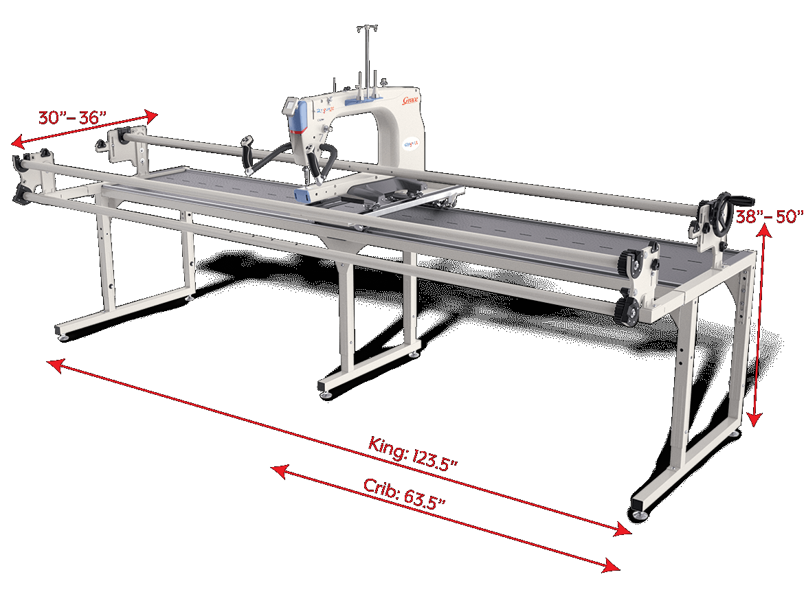 QNIQUE 21 inch Long Arm  Quilting Machine & Continuum King Frame
