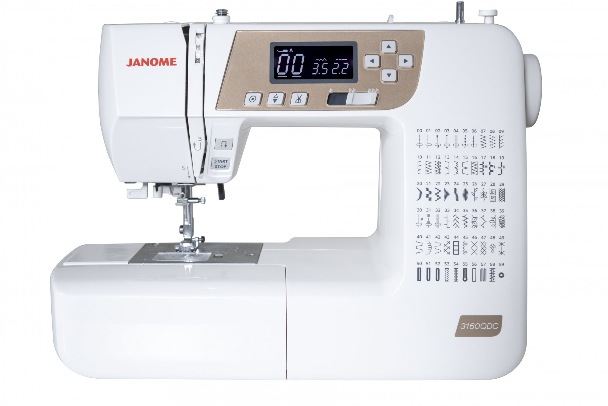 JANOME 3160 QDC-T Electronic Full Feature Sewing Machine