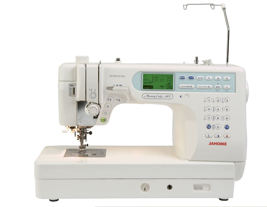 JANOME 6600P Professional Quilting/Sewing w/ Walking Foot & 9 in. X 5 in.throat, Plus Free Bonus Items