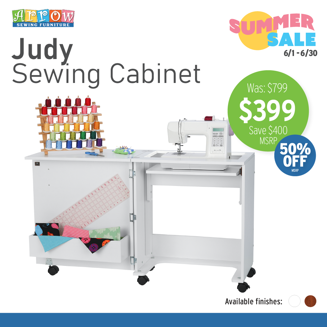 ARROW Judy Sewing Cabinet (Choose Your Finish)