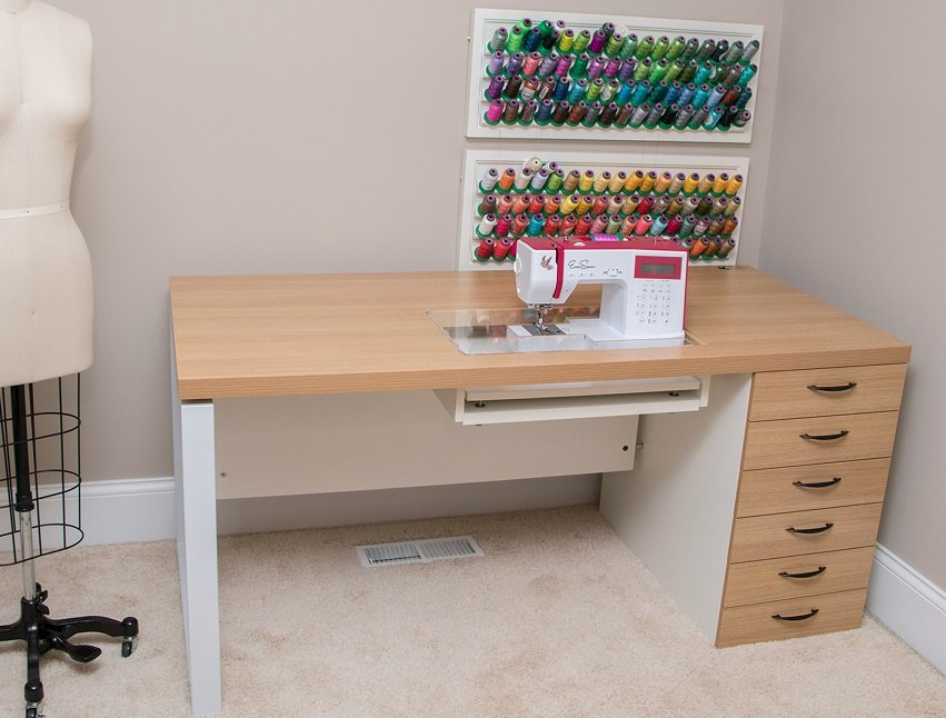 Ever Sewn ES-Loft2 Sewing Machine Workstation with 6 Deep Drawers