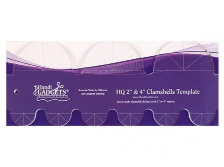 HANDI QUILTER clamshell template, 2 or 4