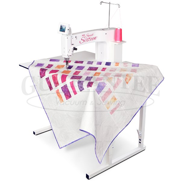 HANDI QUILTER Sweet Sixteen 16 Inch Sit Down Longarm Quilting Machine with InSight Table
