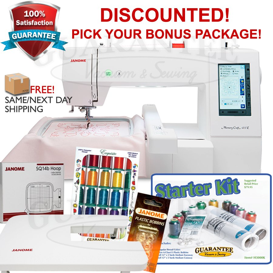 JANOME MC400E Embroidery Machine w/ FREE BONUS!