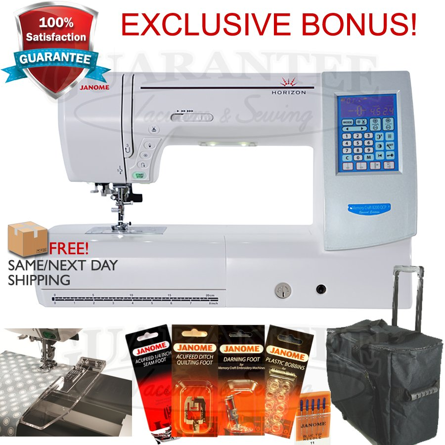 JANOME HORIZON MC8200QCPSE Quilting /Sewing/Crafting   11  Extended Arm