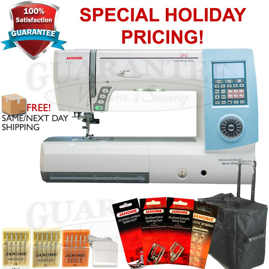 JANOME HORIZON MC8900QCPSE Quilting/Sewing 11 1/8  Extended Arm