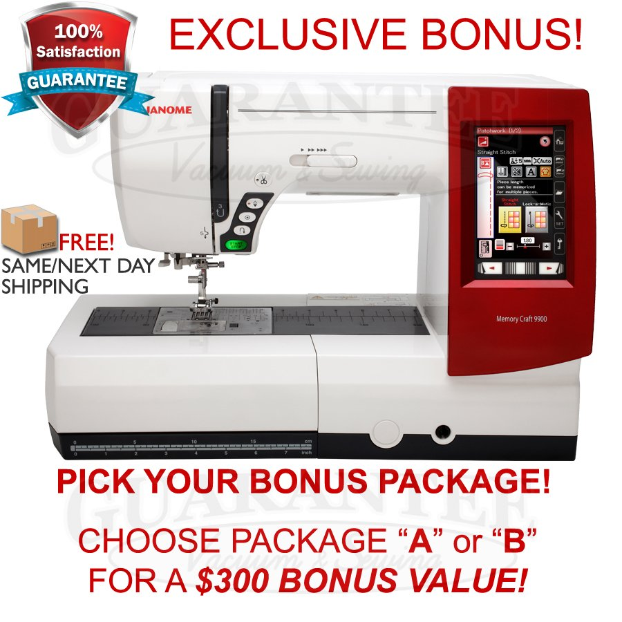 JANOME 9900 Sewing/Embroidery Machine w/FREE BONUS!