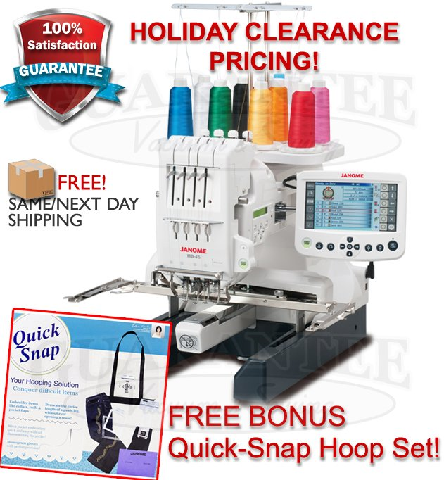 JANOME MB-4S Multi Needle Professional Embroidery Machine  SALE $4999