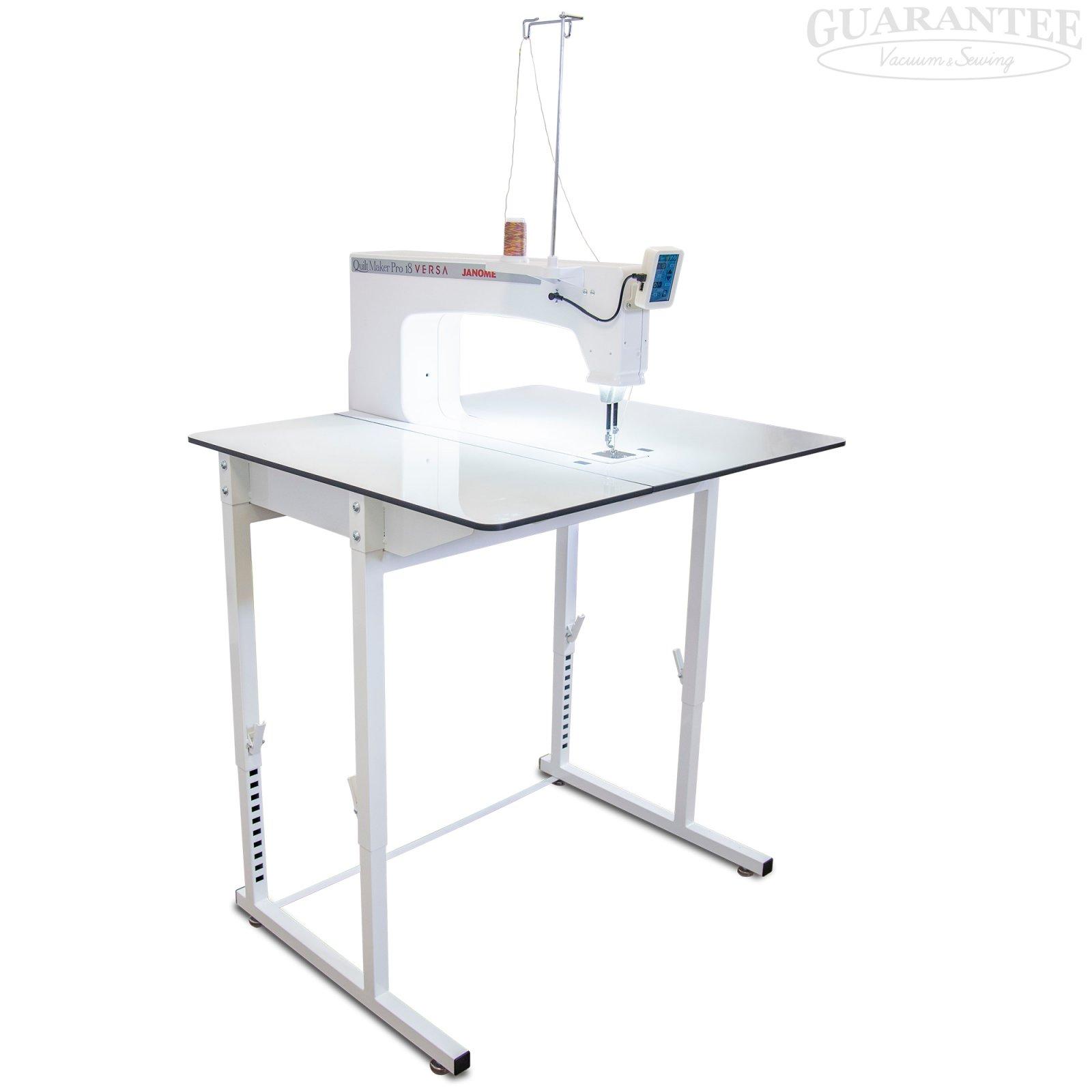 JANOME Quilt Maker Pro 18 Versa Stationary Long Arm Quilting Machine w/ Stitch Regulation