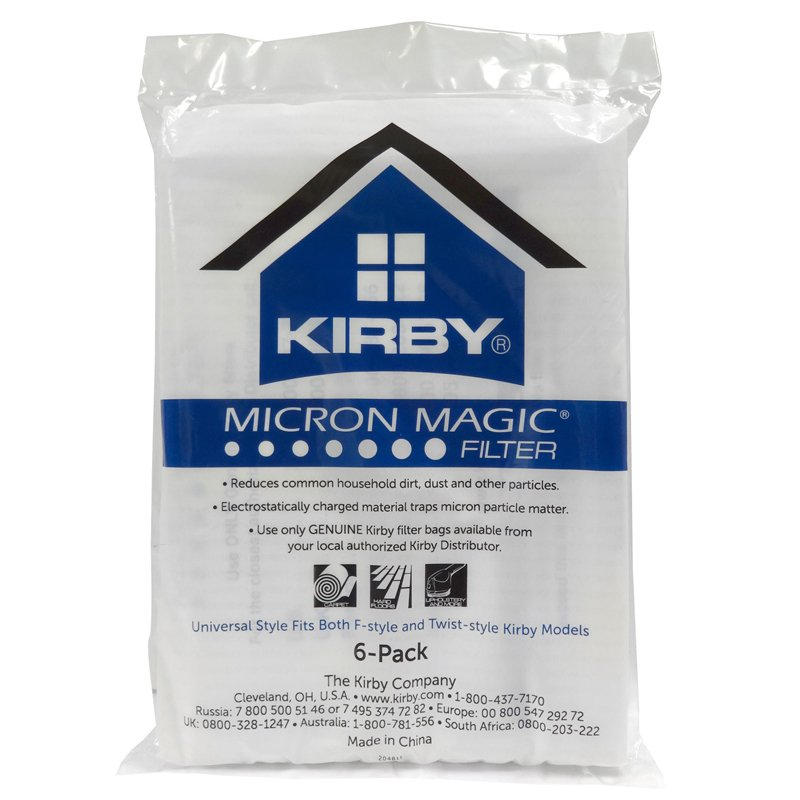 KIRBY SENTRIA Allergen Cloth bags, Universal Fit, 6 pack
