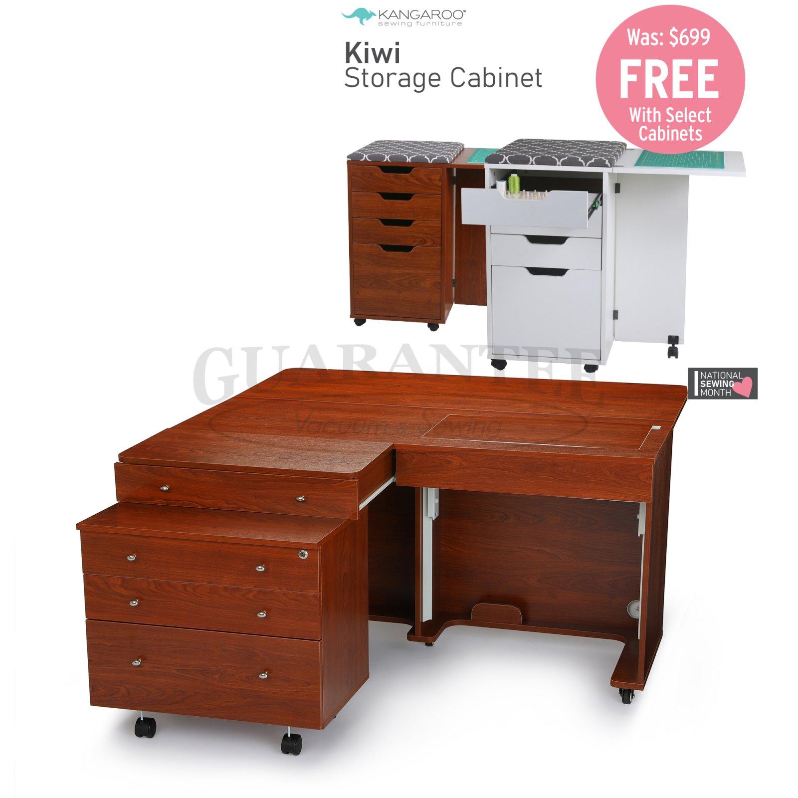 KANGAROO Kangaroo II & Joey II Sewing Cabinet Combo (Choose Your Finish)