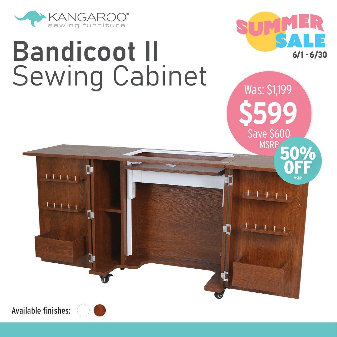 KANGAROO Bandicoot II Sewing Cabinet (Choose Your Finish)