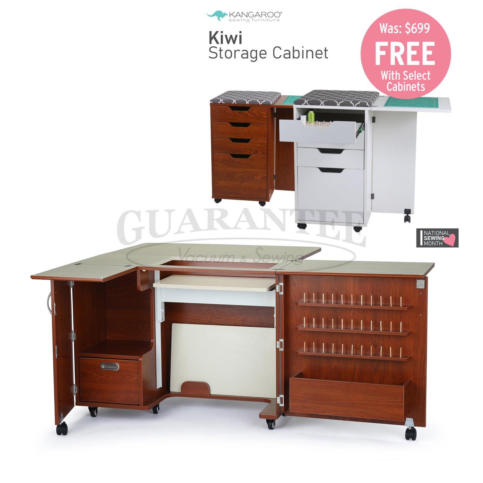 KANGAROO Wallaby II Sewing Cabinet (Choose Your Finish)