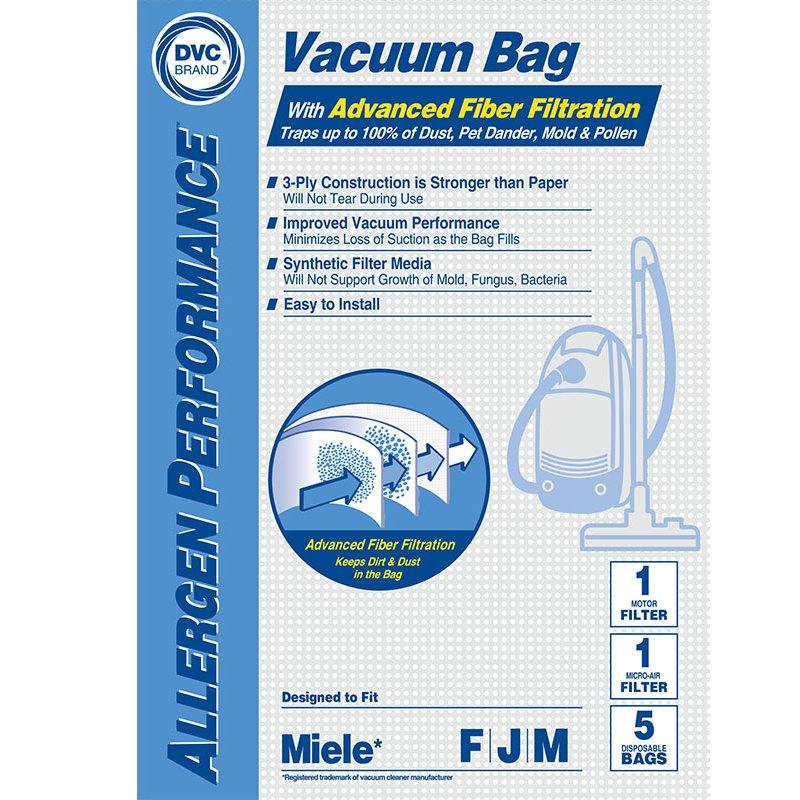 MIELE F/J/M BAGS 5 pk + 2 filters