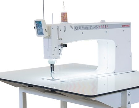 JANOME QMP Versa 18 inch Stationary Sit or Stand Long-ArmQuilter with Stitch Regulation
