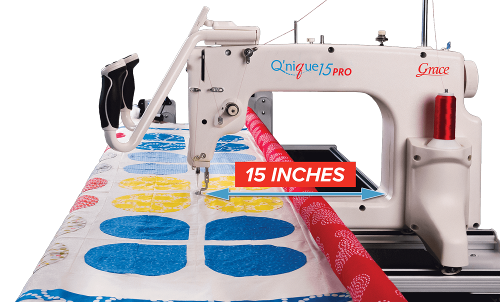 QNIQUE 15 PRO Long Arm Quilting Machine with 8 ft Continuum Queen Frame