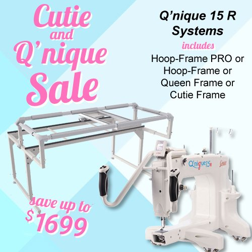 QNIQUE 15R Long Arm Quilting Machine with Q-Zone Hoop Frame