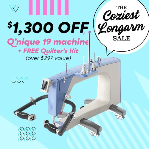 QNIQUE 19 Long Arm Quilting Machine - Head Only