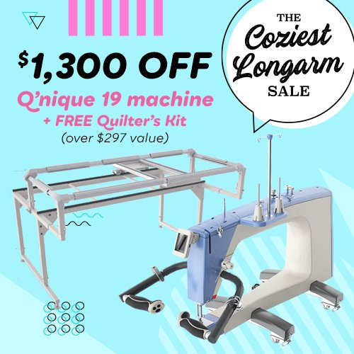 QNIQUE 19 Long Arm Quilting Machine with Q-Zone Hoop Frame