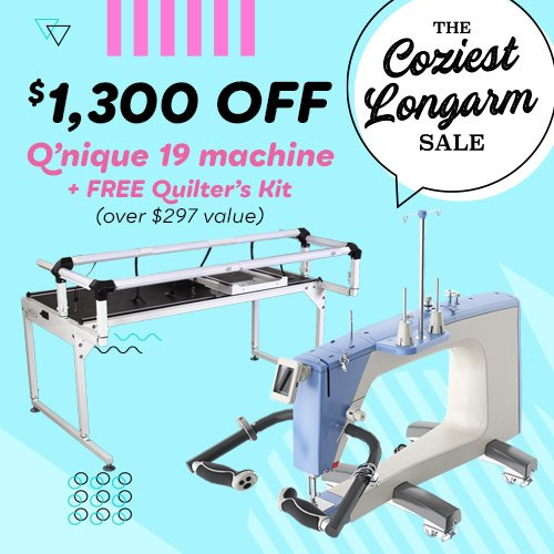 QNIQUE 19 Long Arm Quilting Machine with Q-Zone Hoop PRO Frame
