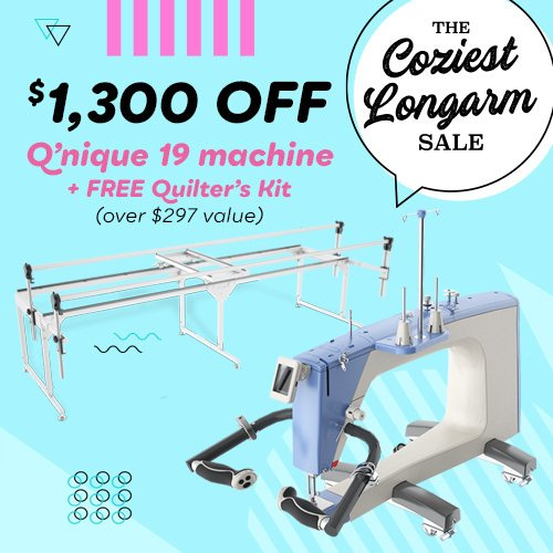 QNIQUE 19 Long Arm Quilting Machine with Q-Zone Queen Frame