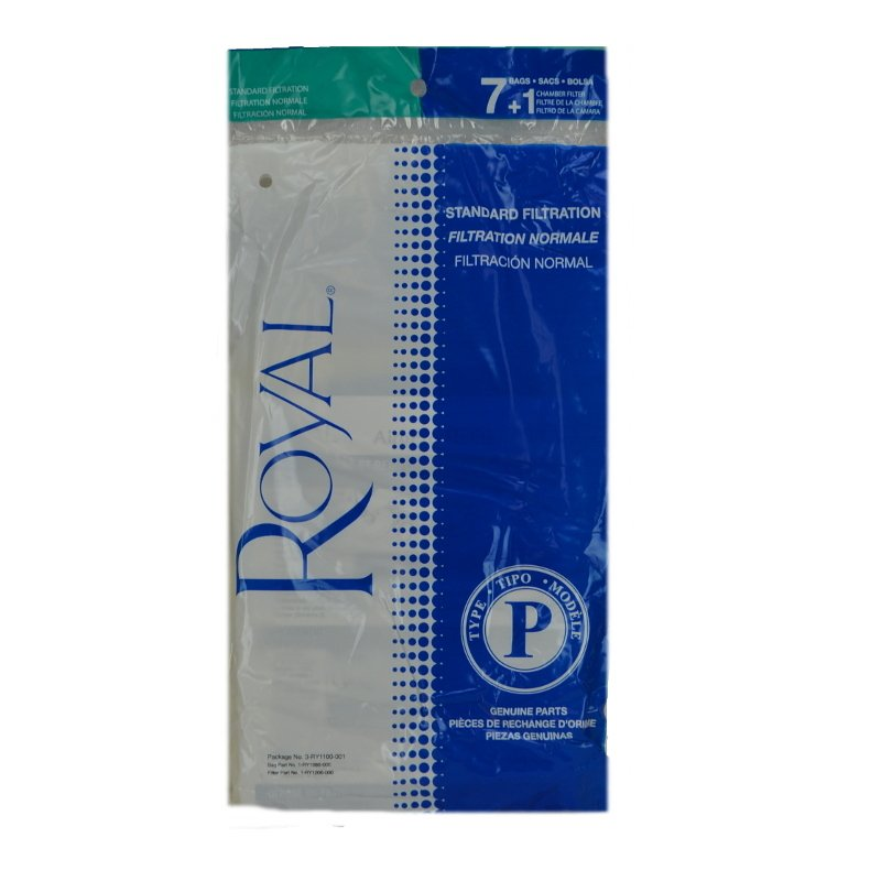 Royal P High Filtration bags, 7 pack + filter