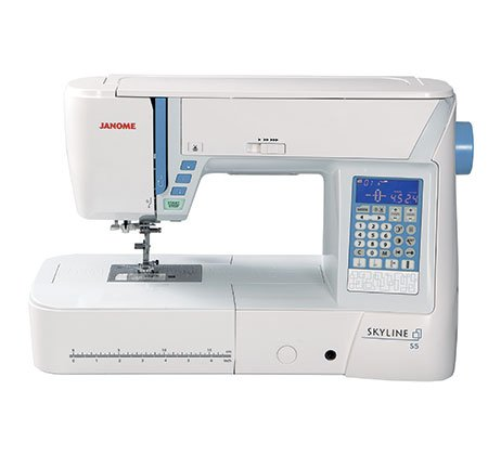 JANOME SKYLINE S5 QUILTING, SEWING  8 1/4 Extended Arm