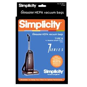SIMPLICITY B HEPA bags, 6 pack