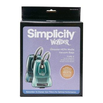 SIMPLICITY C HEPA bags,  6 pack
